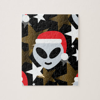 santa alien emoji jigsaw puzzle