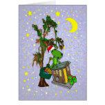 Santa Alligator Cajun Bayou Christmas Greeting Card
