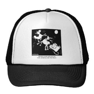 Santa Almost Hits The Cow Who Jumped Over the Moon Trucker Hat