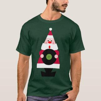 Santa ama la camiseta del vinilo