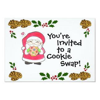 Santa ama la invitación de las galletas