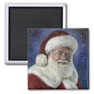 Santa amongst the Stars 2 Inch Square Magnet