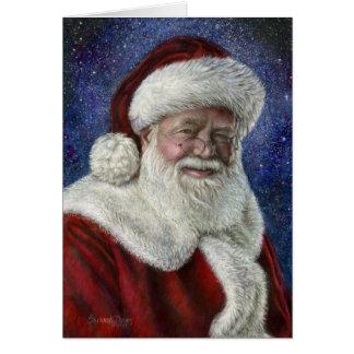 Santa amongst the Stars Card