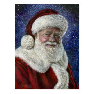 Santa amongst the Stars Postcard