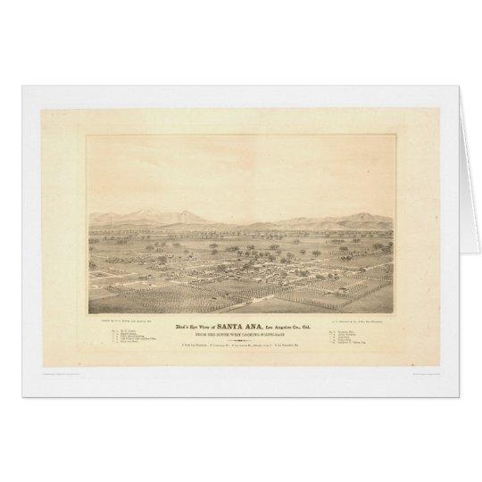 Santa Ana, CA. Panoramic Map (1579C) Card