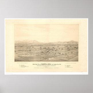 Santa Ana, CA. Panoramic Map (1579C) Poster