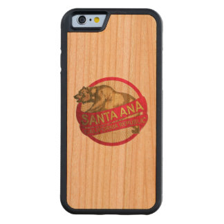 Santa Ana California vintage bear iphone6 case Carved® Cherry iPhone 6 Bumper Case