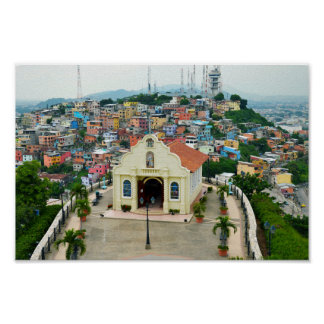 Santa Ana Chapel, Guayaquil, Ecuador Poster