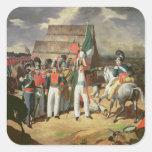 Santa Ana desafía a las tropas españolas Pegatina Cuadrada