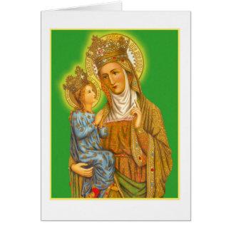Santa Ana el vintage y el Virgen María Tarjeta De Felicitación
