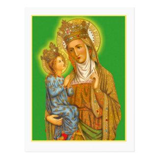 Santa Ana el vintage y el Virgen María Postal