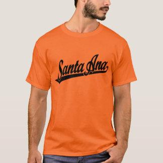 Santa Ana script logo in black T-Shirt