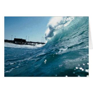 Santa Ana winds sculpt ocean waves Card