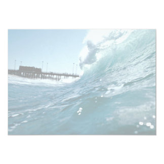 Santa Ana winds sculpt ocean waves 5x7 Paper Invitation Card