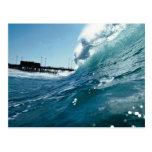 Santa Ana winds sculpt ocean waves Postcard