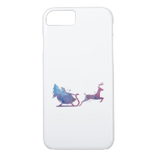 Santa and a reindeer iPhone 8/7 case