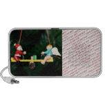 Santa And Angel Teeter Ornament Travelling Speakers