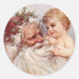 Santa and Baby - Sticker