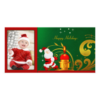 Santa and Candle Photo Cards
