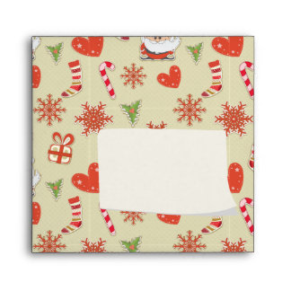 Santa and candy canes envelope