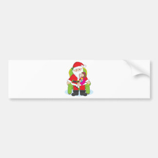 Santa and Child Car Bumper Sticker