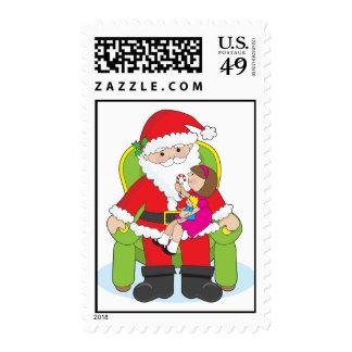 Santa and Child Postage