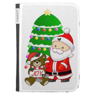 Santa And Christmas Bear Kindle 3 Cover