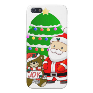 Santa And Christmas Bear Cover For iPhone 5/5S