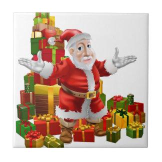 Santa and Christmas Gifts Ceramic Tiles