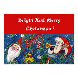 SANTA AND CHRISTMAS NIGHT CARD