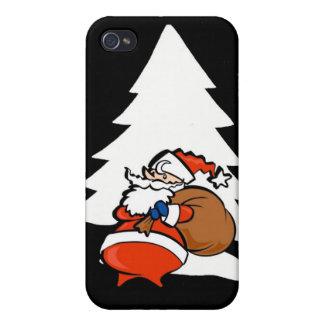 Santa And Christmas Tree Christmas Speck Case