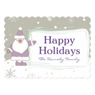 Santa And Christmas Tree Fun Card