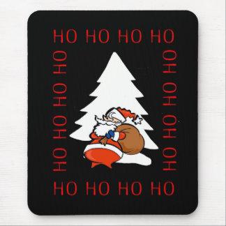 Santa And Christmas Tree Ho Ho Ho Ho Christmas Mou Mouse Pad