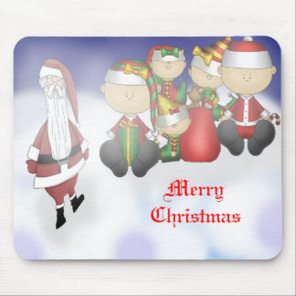 Santa and Crew Mouse Pads