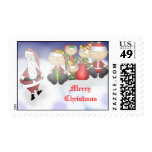 Santa and Crew Postage Stamps