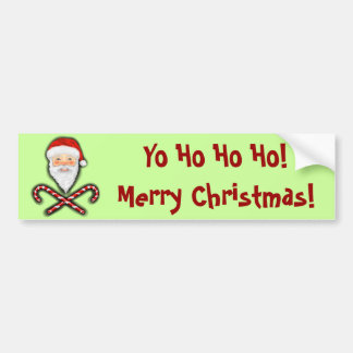 Santa and Cross Canes Bumper Sticker