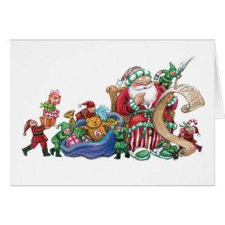 Santa and Elves Card