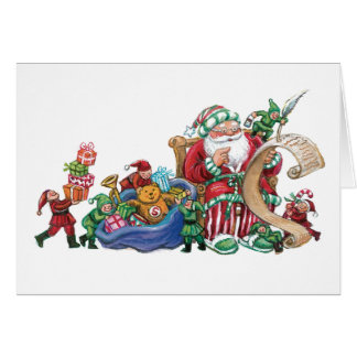 Santa and Elves Cards