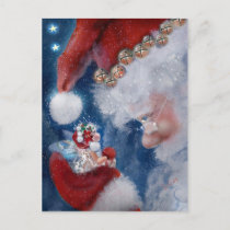 Santa and Faery Holiday Postcard