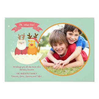 Santa and Friend Holiday Photo Card