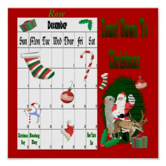 Santa and Friends 1 Countdown To Christmas print