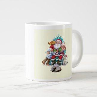 Santa and Friends 20 Oz Large Ceramic Coffee Mug