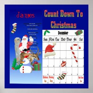 Santa and Friends 2 Countdown To Christmas print