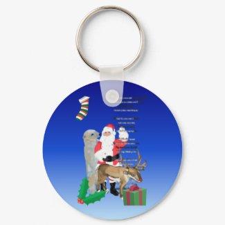 Santa and Friends 2 keychain