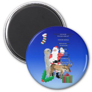 Santa and Friends 2 magnet