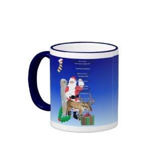 Santa and Friends 2 mug