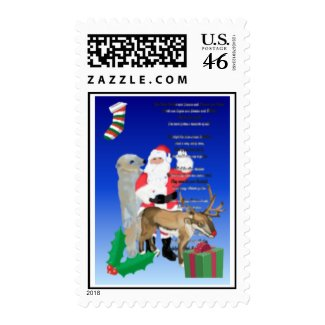 Santa and friends 2 stamp