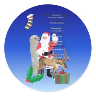 Santa and Friends 2 sticker