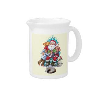 Santa and Friends Beverage Pitcher