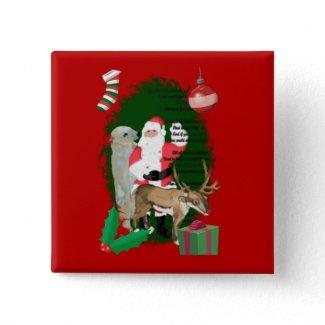 Santa and Friends button